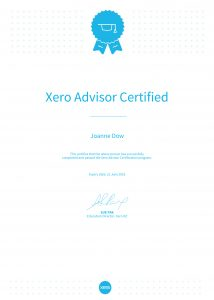 Bookkeeping, Xero and WorkflowMax Certificates