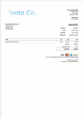 Xero Custom Invoice Template Ready To Use Katalyst Office - Xero invoice templates