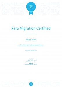 Xero Migration Certified_Marilyn Stone